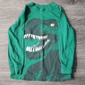 Green Dinosaur Kid long sleeve shirt